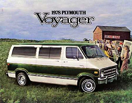 (1978 Plymouth Voyager Sales Brochure Literature Book Advertisement Options)