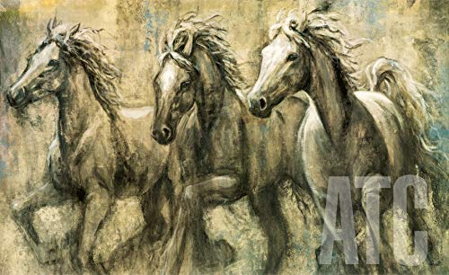 ArtToCanvas 39W x 27H inches : Desert Kings by Karen Dupre - Framed Canvas