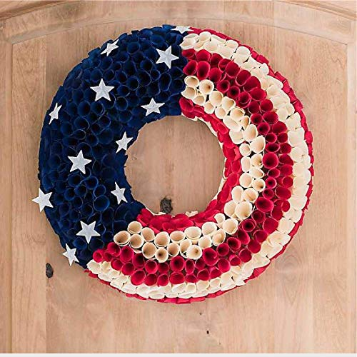 Kirkland's Round Wood Chip Flag Wreath