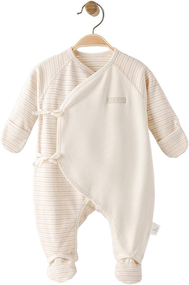 COBROO 100/% Organic Cotton Baby Footies
