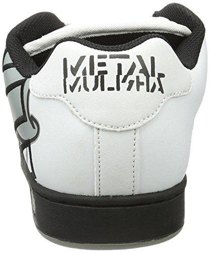 Etnies Metal Mulisha Scarpa Da Skate Fader Bianco / Nero / Grigio