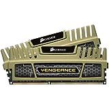 Corsair CMZ8GX3M2A1600C9G Vengeance 8GB (2x4GB) DDR3 1600 Mhz CL9 XMP 1.35 Low Voltage Performance Desktop Memory Kit Gold