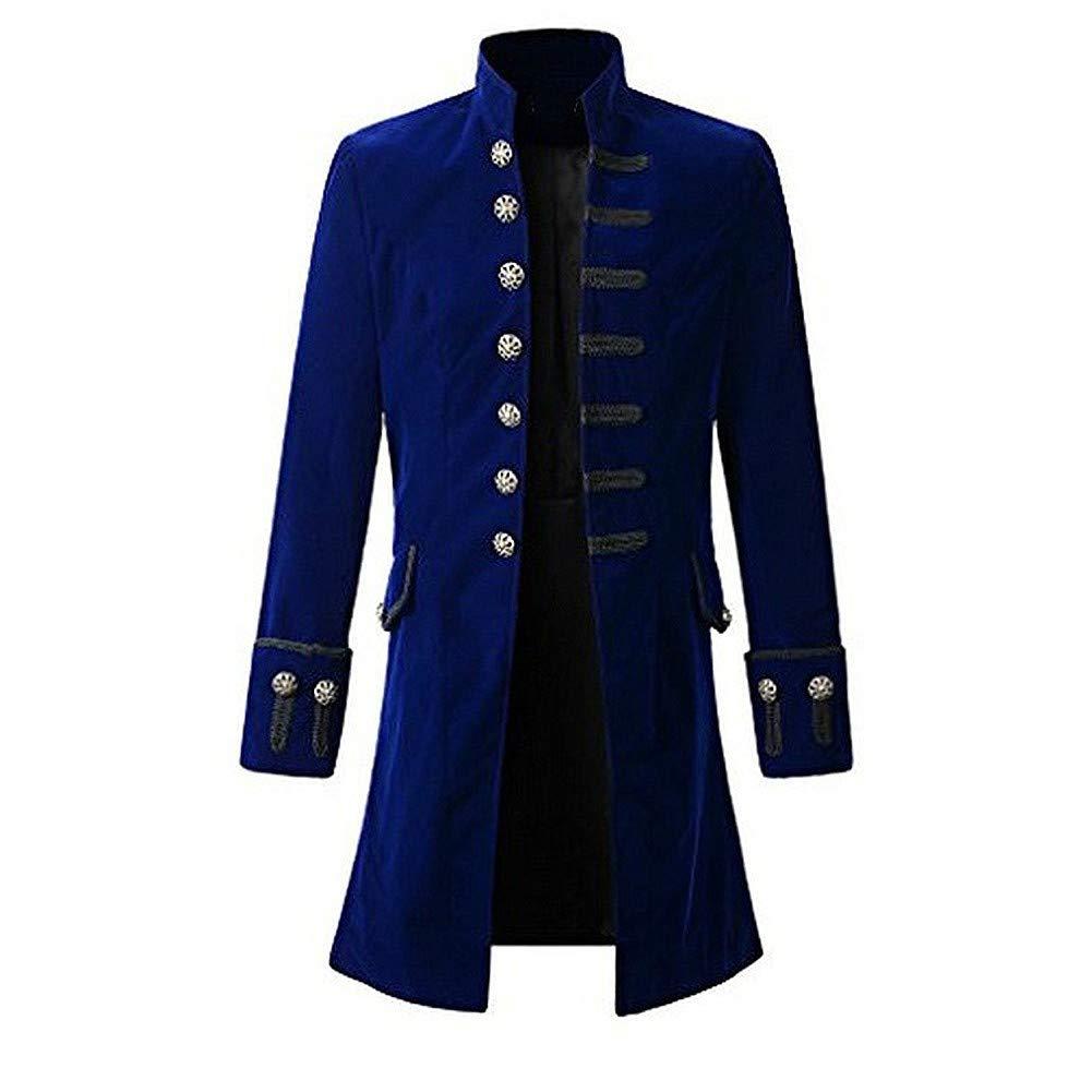 Adult Men Tuxedo Gentleman Steampunk Tailcoat Gothic Long Coat Uniforms Costume