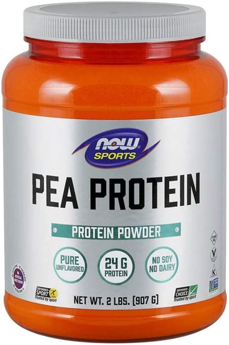 NOW Sports Nutrition, Pea Protein 24 G, Fast Absorbing, Unflavored Powder, 2-Pound: Health & Personal Care