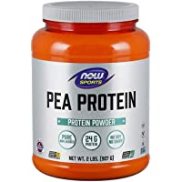 NOW Sports Nutrition, Pea Protein 24 G, Fast Absorbing, Unflavored Powder, 2-Pound
