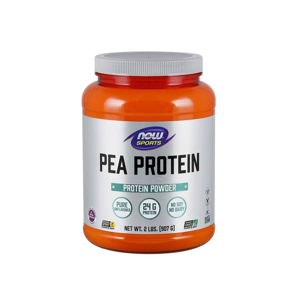 NOW Sports Nutrition, Pea Protein Powder, Unflavored, 2-Pound by Now Sports