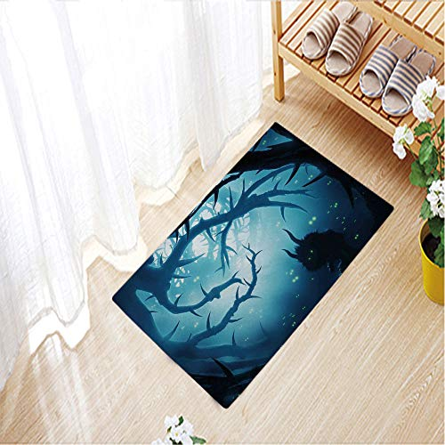 Color Printed mats Anti-Slip Floor Mat Soft for Living Room Indoor Bedroom,31.5