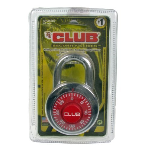The Club School Mates Combination Padlock (Colors may vary) by The Club