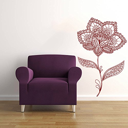 Mandala Wall Decal Henna Hand Drawn Namaste Indian Lotus Flower Yoga Ornament Geometric