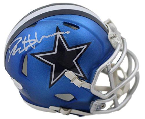 Deion Sanders Helmet - Deion Sanders Autographed/Signed Dallas Cowboys Blaze Mini Helmet JSA