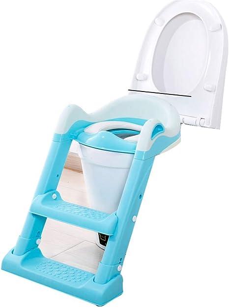 Stool Asiento para inodoro con entrenamiento para ir al baño con escalera antideslizante, Entrenador para inodoro para bebés y niños pequeños Entrenador con silla para ir al baño con escalera para tab: