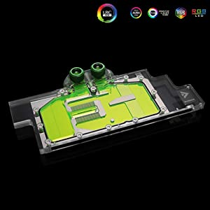 GPU Copper RBW LED Water Cooling Block for NVIDIA Quadro RTX5000 RTX6000 RTX8000 M6000 (RTX5000 RTX6000 RTX8000 GPU Block)