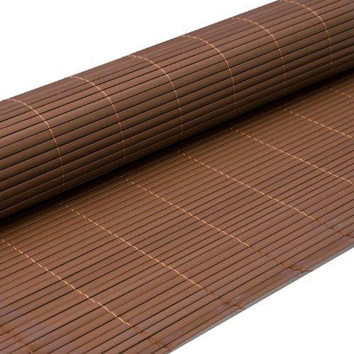 EYEPOWER Valla de PVC 90x500cm | Pantalla de partición Protectora privacidad Viento Sol decoración jardín balcón terraza | Estera de plástico semejante bambú | Marrón: Amazon.es: Jardín