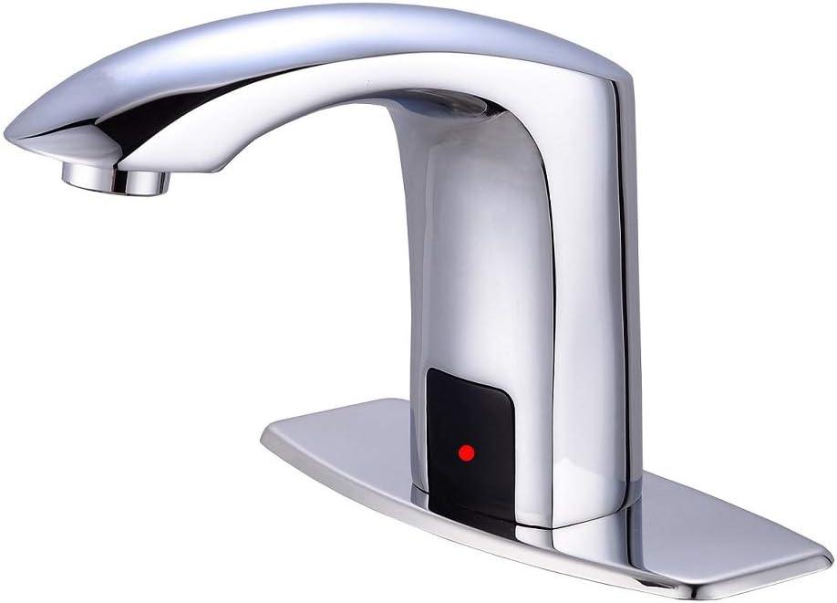 Mixing Valve Chrome Touchless Sensor Faucet Auto Hands Free Bathroom Sink Tap