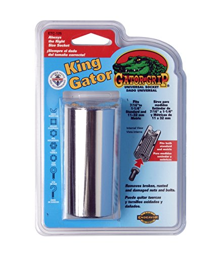 Gator Grip King Socket The Original Professional Grade Self-Adjusting Universal Socket with over 450FT Pounds of Power. Self-Adjusts for shape and size as well as Standard and Metric Application by Endeavor (Image #1)