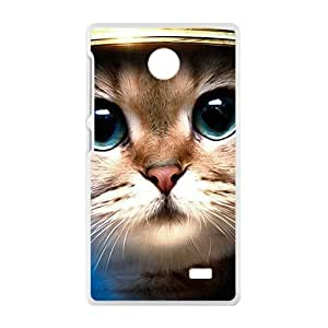 Cute Big Eyes Cat White Phone Case for Nokia Lumia X wangjiang maoyi by lolosakes