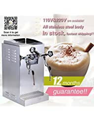 Yoli 8 6L Stainless Steel Milk Bubble Machine Water Boiler Machine Coffee Steam Maker Double Nozzle With Booster Pump Milk Foam Machine