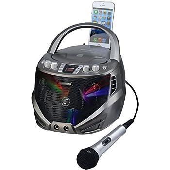 Amazon Com Karaoke Usa Portable Cdg Karaoke Player With