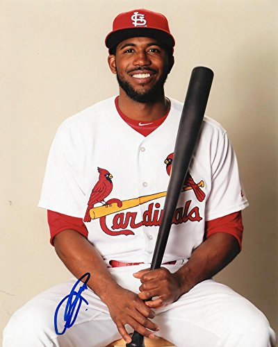 (DEXTER FOWLER ST. LOUIS CARDINALS POSED SIGNED AUTOGRAPHED 8X10 PHOTO W/COA)