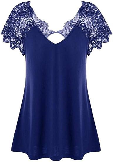 Blusas Superiores Mujer Verano Moda Camisas Hueco Casual ...
