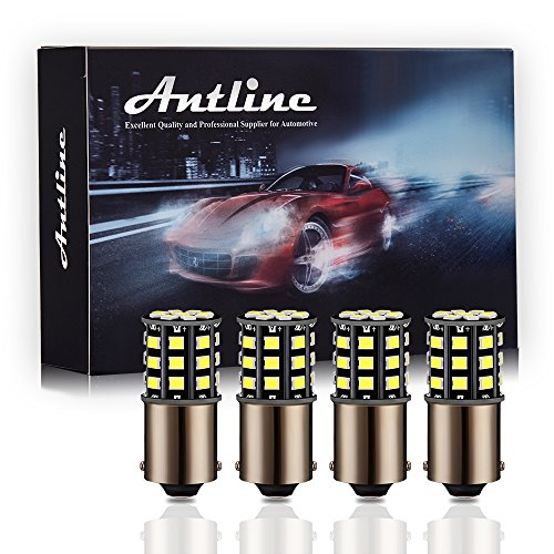 Antline 1156 1141 1003 7506 BA15S LED Bulbs White, 12-24V Super Bright 1000 Lumens Replacement for RV Camper Interior Lights, Backup Reverse Lights, Tail Brake Lights, Turn Signal Lights (Pack of 4)