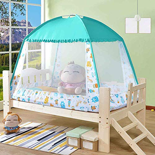 WDDH Baby Crib Tent Safety Mosquito Net,Nursery Crib Canopy Netting Baby Bed Mosquito Net Safety Tent Canopy Cover for Kids