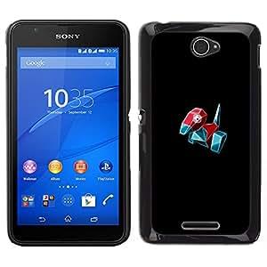 Meter Monster Red Bird OYAYO Sony Xperia E4 //Dise?os frescos para todos los gustos! Top muesca protección para su teléfono inteligente!