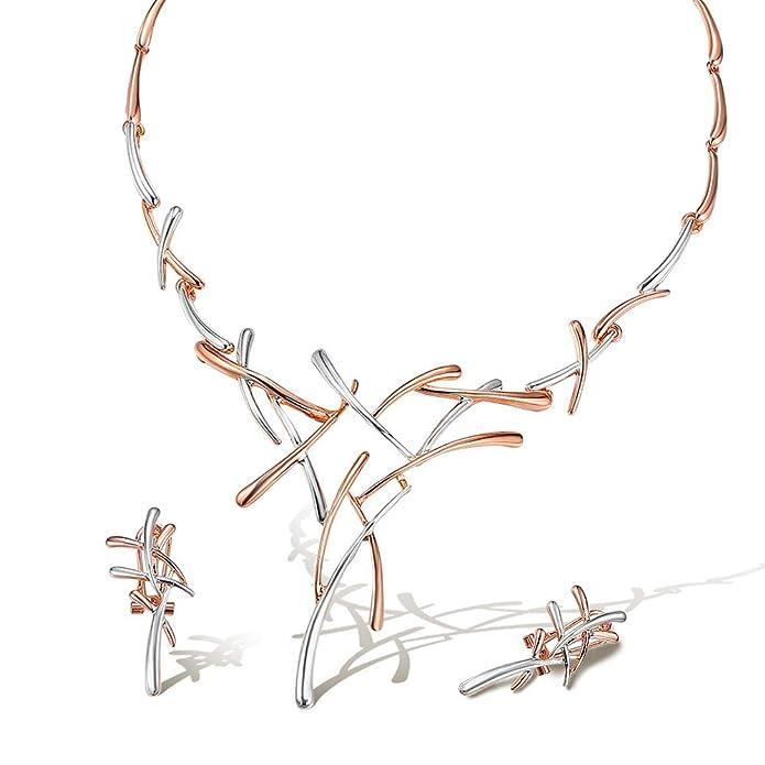 Viennois - Conjunto de collar y pendientes, ideal para bodas, bailes, damas de honor o madre