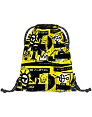 baagl Gymtas voor jongens en meisjes, sporttas voor jongens, kinderen, tieners, school- en sportschoenenzak, sporttas met reflecterende elementen