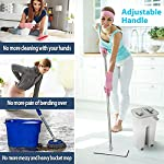 Curated Cart Flat Mop with Bucket and 2 Refills Smart Sleek Compact Size Mop and Bucket, Floor Cleaning (Random Colour)