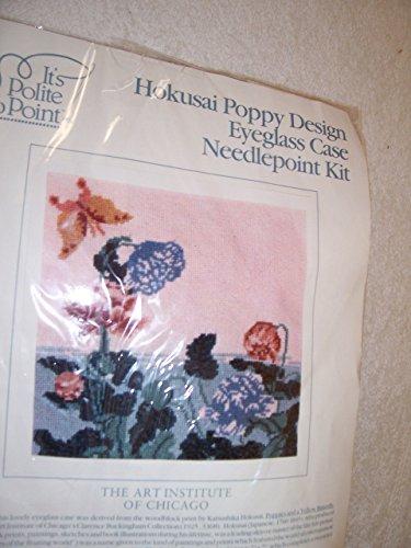 Case Eyeglass Butterflies (Hokusai Poppy Design Eyeglass Case Needlepoint Kit)