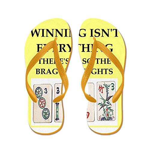 CafePress Mahjong - Flip Flops, Funny Thong Sandals, Beach Sandals Orange