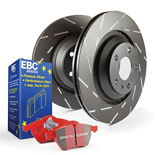 EBC Brakes S4KR1358 S4 Kits Redstuff and USR Rotor Incl. Rotors and Pads Rear Rotor Dia. 13 in. S4 Kits Redstuff and USR -