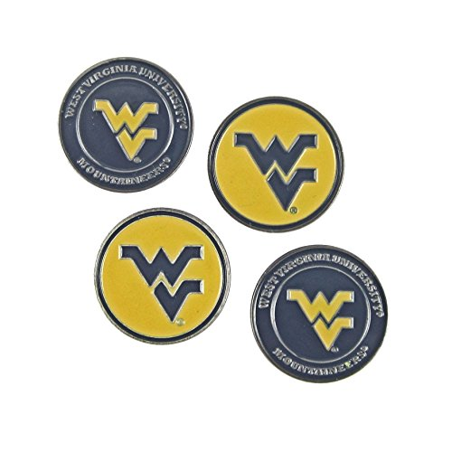 ((4) West Virginia Mountaineers Golf Ball Markers)