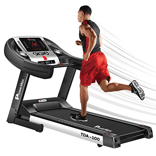 PowerMax Fitness TDA-100 Series (2.0HP) Motorized Foldable,Electric Treadmill (FREE INSTALLATION)?ÇÉLED Display,BMI,Spring Resistance?ÇæRunning Machine for Max Pro-Workout by Walk, Run & Jog at Home.