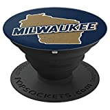 Milwaukee, Wisconsin - WI State Map Pop Socket - PopSockets Grip and Stand for Phones and Tablets
