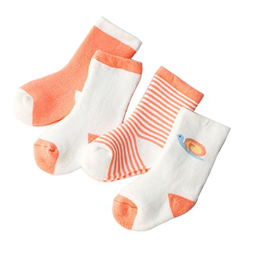 Cute Animal Unisex Baby Socks by FQIAO Thick Soft And Warm Holders 4 Pack Gift for Newborn And Baby 6-12 Months
