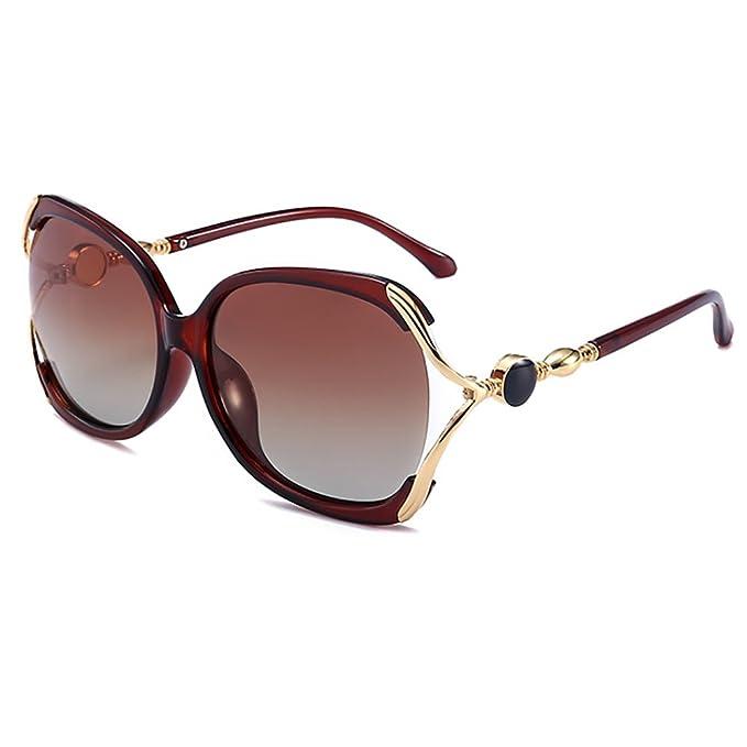 Mariposa Mujeres tonos gafas de sol Classic Oversized Gafas de sol polarizadas 100% UV Proteccion