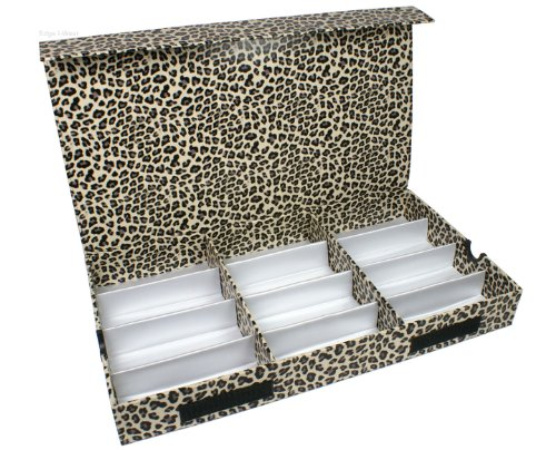 Edge-I-Wear D-7LEWHT White Leopard Pattern Eyeglasses Case Display Storage Box