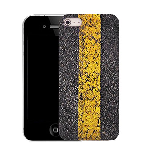 Mobile Case Mate iPhone 5c clip on Silicone Coque couverture case cover Pare-chocs + STYLET - yellow line pattern (SILICON)