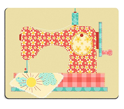 Vintage Homespun - MSD Natural Rubber Mousepad IMAGE 11913845 Sewing machine Patchwork vintage series