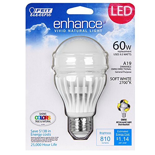 Feit BPAGOM800/927/LED 60W Equivalent A19 High Cri Enhance LED Light