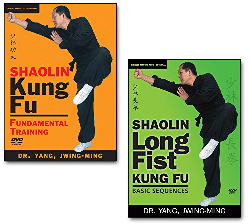 Bundle-Shaolin-Kung-Fu-DVDs-YMAA-Kung-Fu-Fundamental-Training-and-Longfist-Sequences-by-Dr-Yang-Jwing-Ming