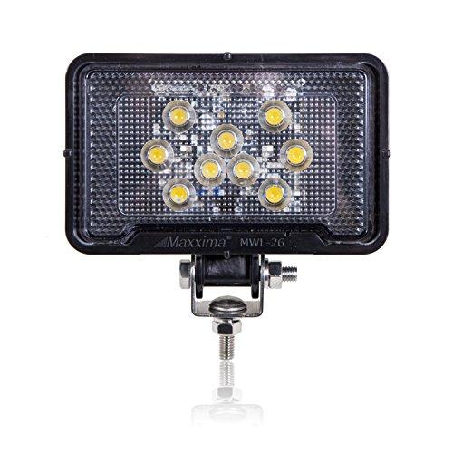 Maxxima MWL-26 9 LED Rectangular Super Light Weight Compact Work Light 500 Lumens by Maxxima