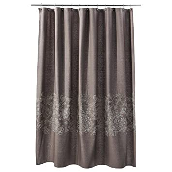 Amazon.com: Threshold Embroidered Floral Shower Curtain - River ...