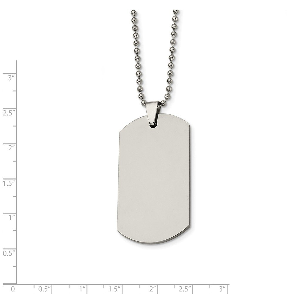 Jewelry Necklaces Necklace with Pendants Tungsten Polished Dog Tag 24in Necklace