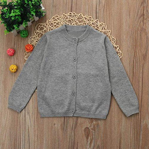 Cywulin Baby Sweater,O-neck Knitted Colorful Solid Cardigan Coat Tops