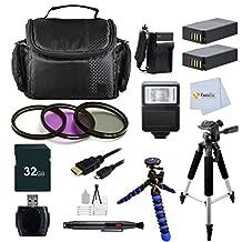"Advanced Accessory Kit for Nikon COOLPIX P900 Digital Camera Includes: 32GB Memory Card + 2 Batteries + 57"" Tripod & more"