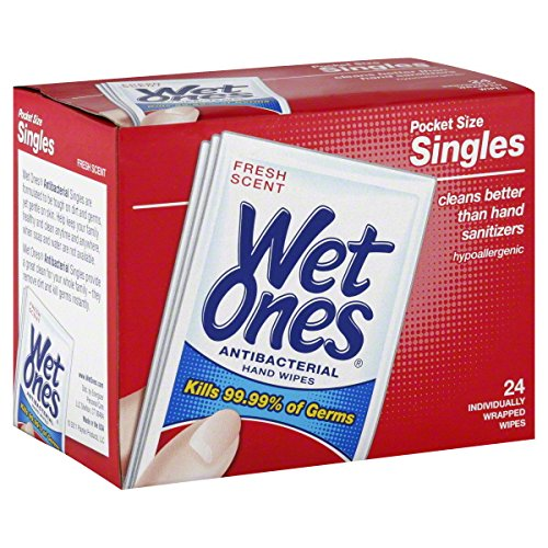 Price comparison product image Wet Ones Singles 1-Pack of 24-Count wipes