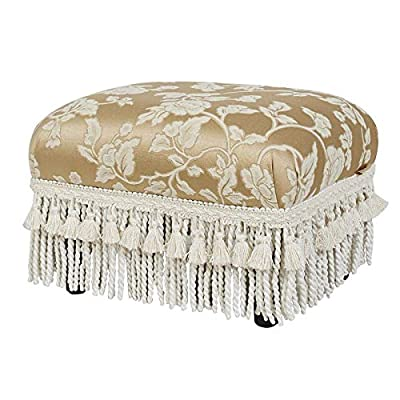 Brika Home Decorative Footstool in Neutral